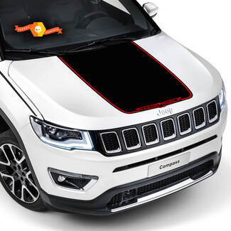 2017 2018 2019 2020 Jeep Compass Latitude TRAILHAWK  Vinyl Hood Decal Sticker Graphic Stripe High Quality Wrap Vinyl