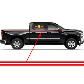 Chevrolet Silverado side accent stripes graphics decal door panel decal black vinyl