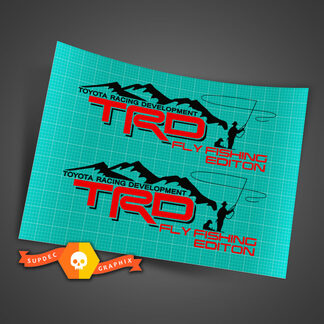 Pair of TRD Fly Fishing EditionToyota Racing Development bed side Truck decals stickers Tacoma Tundra FJ Cruiser