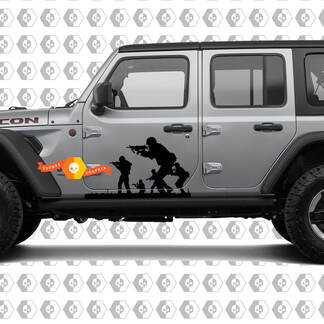 Band of Brothers US Army Vinyl Decals for Jeep Wrangler