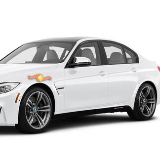 2 BMW M Performance Set Of Side Stripes For M3 Series F80