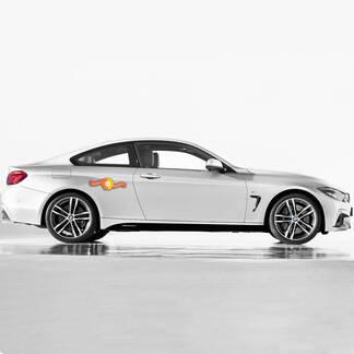 2 BMW M PERSPERISTING SET ZIJ STRIPES VOOR M4 F30 F31 F32 F33 F35 F36
