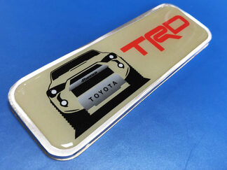 TRD 4Runner Metal Aluminum Badge Bed Side Emblem Aluminium