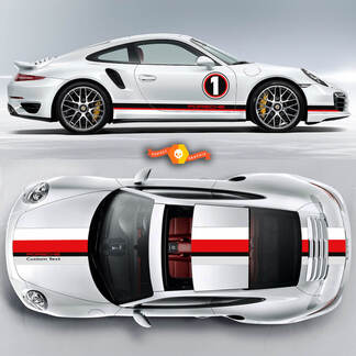 Amazing Double Stripes Over The Top Le Mans Racing Stripes Porsche For Carrera Cayman  Boxster Or Any Porsche