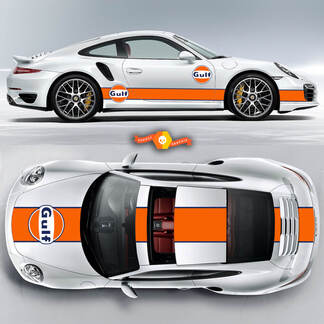 Amazing Porsche GULF Racing Stripes For Carrera Cayman  Boxster Or Any Porsche