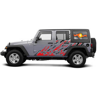 Jeep Wrangler Any Year 4-Door Custom 2 Colors Vinyl Decal Kit - Splash