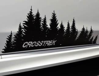 Subaru Crosstrek tree Decal Destroyed vinyl Door graphic Forest Silhouette Tree sticker