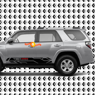 TRD style 4x4 off road Rocker Panel Side Stripes Vinyl Stickers Decal Kit for 4Runner