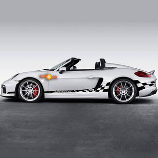 Porsche Endurance Racing Edition Side Сheckered Flag Stripes For Carrera Or Any Porsche