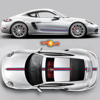 Porsche Martini Racing Stripes For Carrera Cayman  Boxster Or Any Porsche Full Kit #2