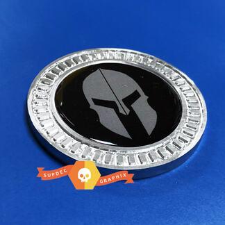 3D Abzeichen Spartan Gladiator Helm Metall Aluminium Bett Seiten Emblem für Jeep Wrangler JL JK YJ TJ