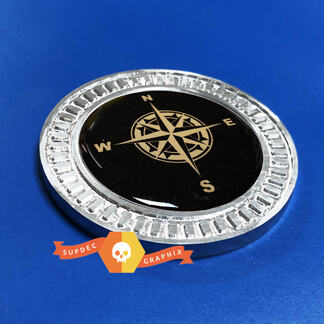 3D Badge Compass Metal Aluminum Bed Side Emblem For Jeep Wrangler JL JK YJ TJ