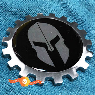 Spartan Helmet Gladiator Metal Aluminum Badge Bedside Emblem Aluminium