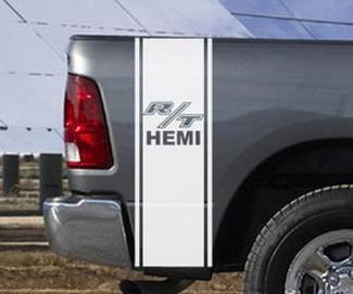 Dodge Ram Truck R/T HEMI 2 BEDSTRIPE BED STRIPE KIT Vinyl Decal