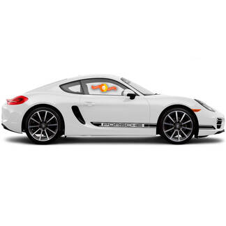 Porsche Cayman R Boxster Side stripes one color Or Any Porsche