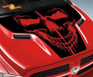 Dodge 2010-2018 Ram Rebel Motorhaube Schädel Logo Truck Vinyl Aufkleber Grafik Pick Up Pickup Widder 1500 2500 Rebell