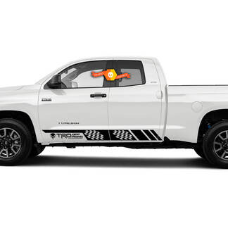 Toyota Tundra Punisher Off Road Side Stripe Kit Bedskirts distressed vinyl decal