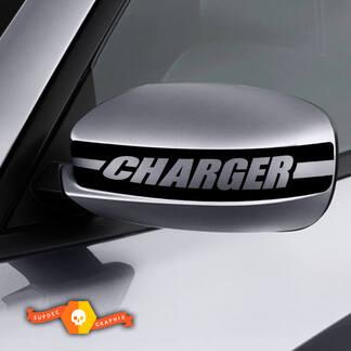 Dodge Charger Mirror Aufkleber Aufkleber Ladegerät Grafiken passt zu Modellen 2011-2016