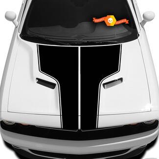 Dodge Challenger Hood T-Aufkleber mit Umrissaufkleber Die Grafik passt zu den Modellen 09 - 14