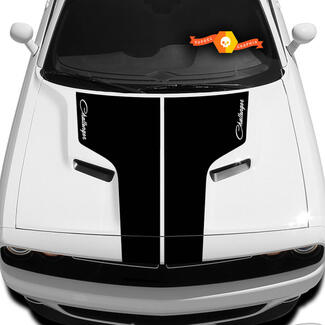 Dodge Challenger Hood T Decal With Inscription Challenger Sticker Hood graphics fits to models 09 - 14