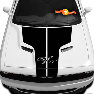 Dodge Challenger R/T Hood T Decal With Inscription R/T Sticker Hood graphics fits to models 09 - 14