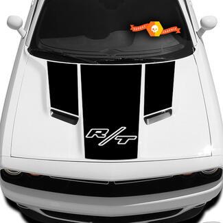 Die neuen Grafiken des Dodge Challenger R / T Hood T-Aufklebers passen zu den Modellen 09 - 14