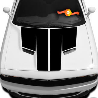 New Style Dodge Challenger Hood T Decal Sticker graphics fits to models 09 - 14