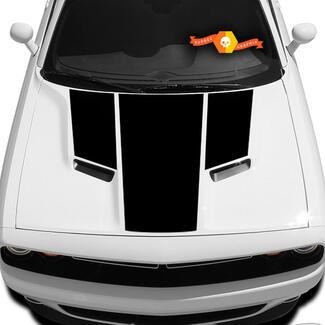 Die neuen Grafiken der Dodge Challenger Hood T-Aufkleber-Aufkleberhaube passen zu den Modellen 09 - 14