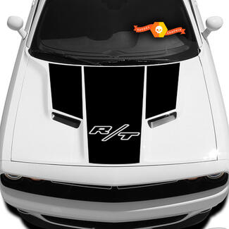 New Style Dodge Challenger R/T Hood T Decal Sticker Hood R/T graphics fits to models 09 - 14