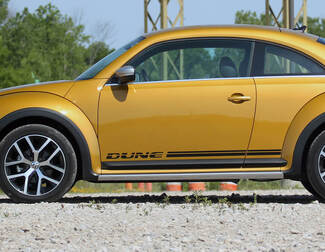 Volkswagen Beetle Dune rocker Stripe Graphics Decals Cabrio style fit any year