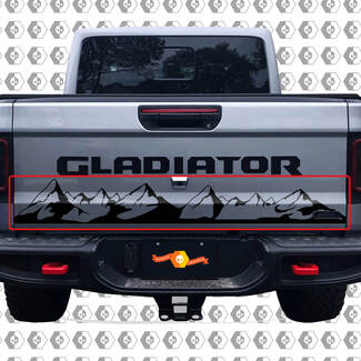 Bed Tailgate Jeep Wrangler Gladiator Rubicon Mountains Vinyl Decal for 2018-2021
