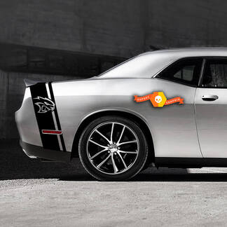 Dodge Challenger HellCat Sloped Tail Band Decal Sticker graphics