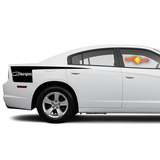 Dodge Charger Retro side Hatchet Stripe Decal Sticker graphics fits to models 2011-2014