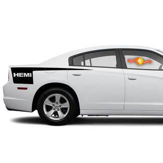 Dodge Charger HEMI Seite Beil Streifen Aufkleber Aufkleber Grafiken passt zu Modellen 2011-2014