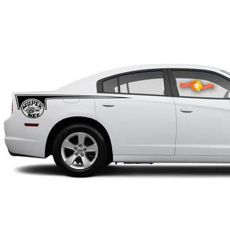 Dodge Charger Super Bee Seite Beil Streifen Aufkleber Aufkleber Grafiken passt zu Modellen 2011-2014