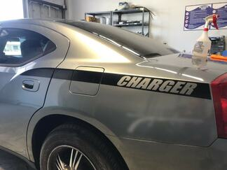 Dodge Charger Back Quarter Panel Stripes decal Kit 2006, 2007, 2008, 2009, 2010