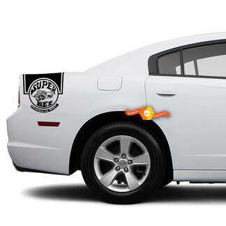 Dodge Charger Rear side Band Decal Sticker Super Bee SRT graphics fits to models 2011-2014