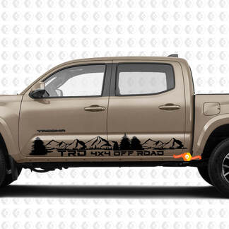 Pair Stripes for Tacoma TRD 4x4 Off Road The Mountains Pine Forest Side Rocker Panel Vinyl Stickers Decal