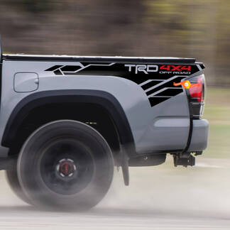 TRD 4x4 Off Road Mountain BedSide Seiten Vinyl Aufkleber Aufkleber passend für Toyota Tacoma Tundra alle Jahre-
