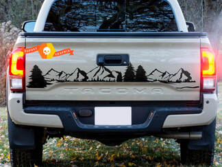 Bed Tailgate Forest Mountains Trees TRD Toyota Tacoma Vinyl Decal Sticker