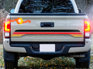 Bed Tailgate Vintage Colors TRD Toyota Tacoma Vinyl Decal Sticker