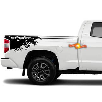 Burst Mud Splash Aufkleber Toyota Tundra Sport Vinyl Aufkleber Grafikstreifen