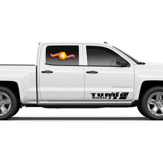 TURBO DIESEL Chevrolet Silverado 2500HD 3500HD Chevy 2500 3500 4x4 Heavy Duty TRUCK Vinyl Decal Sticker
