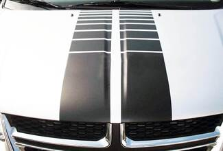 Hood Strobe Broben Faded Stripes Graphics Decals Stripes Dodge Grand Caravan