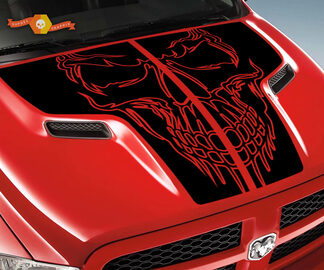 Dodge 2010 2018 passt Ram 1500 2500 Rebel Schädel Rebel Hood Logo Truck Vinyl Aufkleber Grafik Pick Up Pickup