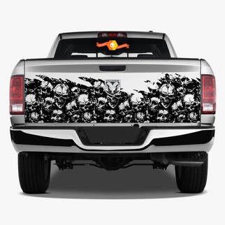 Tailgate Skull Distressed Grunge Wrap Car Bed Pickup Vehicle Truck Vinyl Graphic Decal