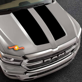 Truck vinyl decal 2019-2020 Ram Hood Black Out Design Pickup Vehicle Vinyl Graphic Decal Sticker
