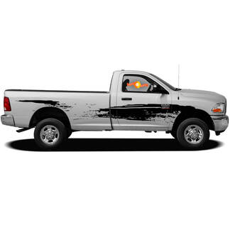 Splatter Marks Splash Mud Mudding Side Bed Doors Pickup Van Vehicle Distressed Grunge Truck Car Vinyl Graphic Decal Sticker Bedside f-150 tundra ram