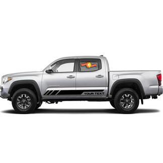 Benutzerdefinierter Text für TRD PRO Türen Vinyl Aufkleber Aufkleber für Toyota Tacoma Tundra