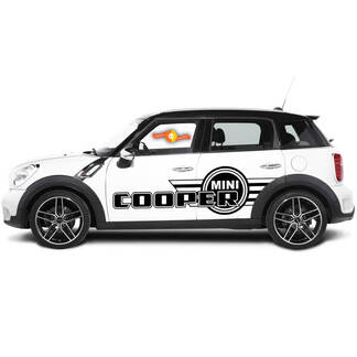 Side Stripes Graphics Decal Stickers For Mini Cooper Countryman 2000 to 2019